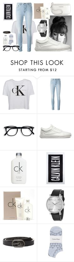 """""""Calvin Klein"""" by nat-nat123 ❤ liked on Polyvore featuring Calvin Klein and Vans"""