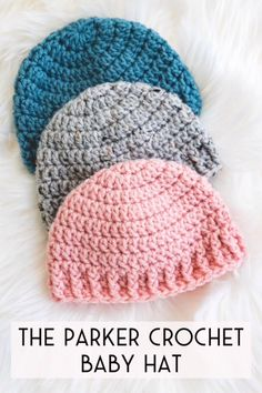 Free Pattern - Crochet Parker Baby Hat Crochet baby hat – free pattern – hospital donation – newborn hat crochet Source by sewrella Crochet Baby Hats Free Pattern, Bonnet Crochet, Crocheted Baby Blankets, Baby Knitting Patterns Free Newborn, Newborn Crochet Hat Pattern, Crochet Cupcake Hat, Easy Crochet Baby Hat, Crochet Preemie Hats, Crochet Hat Sizing