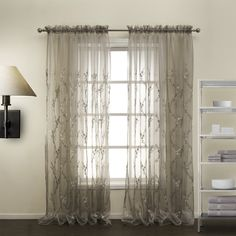 Floral Country Black sheer Curtains  #sheer #sheercurtain #custommade #curtains #homedecor