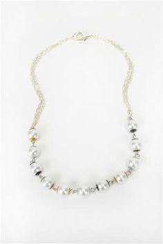 Bead Landing  Pearl Accent Necklace
