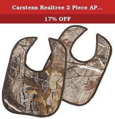 Carstens Realtree 2 Piece AP Baby Bib. The carstens camo baby products are a great way to start a lifetime of adventure. This bib is practical protection-with panache. With styles and colors for both boys and girls. Carstens is crazy about kids. Their wonderfully unique collections are inspired by nature and are sure to delight little ones wild at heart. Carstens is a family-owned business with roots in the pacific northwest, and since 1988 have brought premium home decor to lodges…
