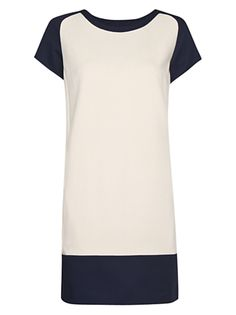 Buy Mango Constrasted Hem Dress, Neutrals online at JohnLewis.com - John Lewis
