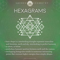 Hexagrams Meaning – Sacred Geometry Sacred Geometry Clothing: Sacred Geometry is a series of geometric shapes with deeper metaphysical meaning. Behind the chaos, there is order. Sacred Geometry Meanings, Sacred Geometry Patterns, Sacred Geometry Tattoo, Symbols And Meanings, How To Draw Sacred Geometry, Sacred Geometry Triangle, Fractal Geometry, Spiritual Symbols, Sacred Symbols