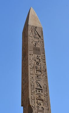 """amntenofre: """" 'Ipet-Sut' (""""Karnak""""), the highly sacred Precinct of the God Amon-Ra at 'Uaset'-Thebes: detail of the obelisk of King Thutmosis I located in the """"Festival Court"""" of King Thutmosis II """" Egyptian Symbols, Ancient Egyptian Art, Ancient Aliens, Ancient History, Mayan Symbols, Viking Symbols, Viking Runes, Ancient Symbols, Egypt Art"""