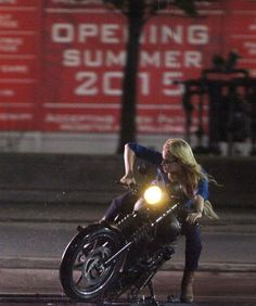 Margot Robbie's 'Harleen Quinzel' Does Motorbike Stunt In SUICIDE SQUAD Set Photos And Video