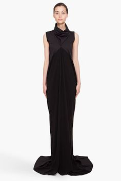 Rick Owens Black Mermaid Dress for women Fabulous Dresses, Beautiful Dresses, Black Mermaid Dress, Black White Fashion, Fashion Fabric, Designer Dresses, Ball Gowns, Evening Dresses, Rick Owens