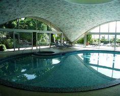 Heinz Isler - Hotel Splendide Royal - Swimming Pool in Massagno, Tessin, Switzerland--completed in 1972.