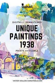 Digitally remastered watercolor paintings of Mediterranian destinations from 1938. Available wall art prints on canvas, acrylic, metal and wood, also framed » click the image for more details!