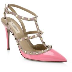 3e10cbbcf1a5 Valentino Patent Leather Rockstud Pumps ( 995) ❤ liked on Polyvore