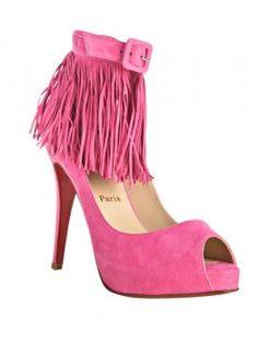 Christian Louboutin Hot Pink Peep Toe