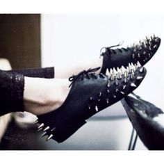 Spiked oxfords.