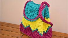 How to crochet super easy t-shirt yarn backpack