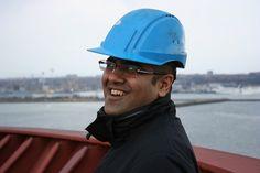 Maersk Line's Hursh Joshi on board Ebba Maersk