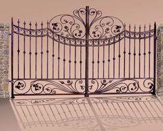 Entrance Gates   Modeled After Montalcino Tuscany, Cen Italy