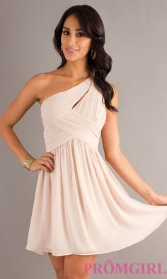 Short One Shoulder Dress, Junior Prom Dress- PromGirl