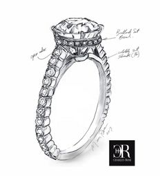 A Charles Rose diamond ring with a diamond set collette.  #CharlesRoseMoment