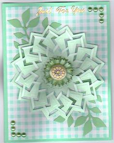 Handmade card using Spellbinders Cut n' Tuck die