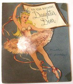 Vintage Ballet Card