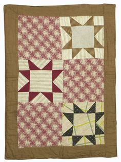 "Double-Sided Stars Doll Quilt, 1890's, Lancaster Co, 18-1/2 x 16-1/2"", Dan Morphy Auctions, Live Auctioneers"