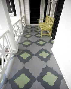 Beautiful painted porch! Design House Week: The Richmond Symphony Orchestra League Designers House