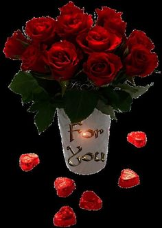 Red Roses For You love flowers animated roses red roses valentine's day for . Flowers Gif, Love Flowers, Beautiful Flowers, Glitter Flowers, Roses Valentines Day, Happy Valentines Day, Gif Pictures, Free Pictures, Coeur Gif