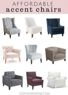 Coffee and Pine: Affordable Accent Chairs