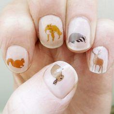 woodland nail stickers