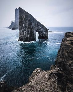 A view of the Faroe Islands.