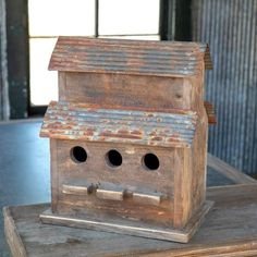 Two Story Bird Barn with Tin Roof Woodworking Projects Christmas Repurposed Wood Projects, Barn Wood Projects, Woodworking Projects For Kids, Woodworking Supplies, Popular Woodworking, Woodworking Furniture, Woodworking Crafts, Woodworking Plans, Wood Furniture