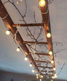 Luminária com escada