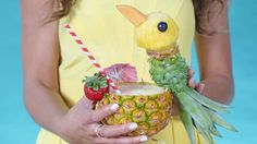 This Insane Pineapple-Carving Trick Will Make Your Jaw Drop: Make any drink party perfection with this fun and easy pineapple parrot.