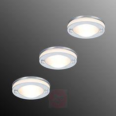 Set de 3 luminaires à encastrer Deco IP65-7600589-01 Luminaire Led, Wall Lights, Ceiling Lights, Lighting, Home Decor, Pendant Light Fitting, Flush Mount Light Fixtures, Home, Appliques