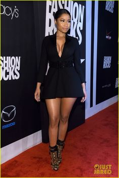 nicki minaj cleavage at fashion rocks 2014 10 Nicki Minaj shows off some cleavage while attending 2014 Fashion Rocks held at the Barclays Center of Brooklyn on Tuesday (September 9) in New York City.     The…