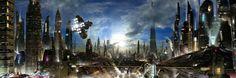 3360x1113 px Free screensaver sci fi wallpaper by Stratton Bishop for : pocketfullofgrace.com