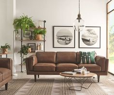 Modern setting for brown leather couch - Coffee Table DIY. Modern setting for brown leather couch - Coffee Table DIY. To view further for this article, visit the image link. Mid Century Modern Living Room, Mid Century Modern Decor, Living Room Modern, Midcentury Modern, Living Room Designs, Mid Century Couch, Modern Retro, Vintage Modern, Living Room Artwork