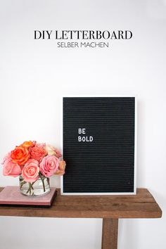 DIY Letterboard selber machen - Buchstabentafel aus Filz basteln - Home Deko DIY