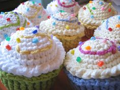 Tried two different versions of crocheted cupcakes had the hardest time! I'll get it one day...