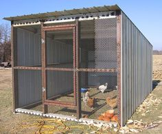 The new fresh-air chicken coop. Fresh air is vital to keeping chickens.