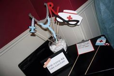 Nursing Themed Party Decorations. Photo Booth Props