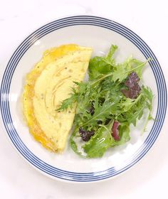 Cheese Omelet | Omelets are a weary cook's best friend. And why not? Don't fear the flip: the technique is so much easier than it might seem—and as long as you have a couple of eggs on hand, a quick, satisfying dinner is never more than a few minutes away.