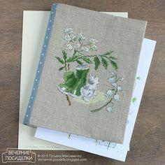 Весенняя обложка / Spring notebook cover - Вечерние посиделки