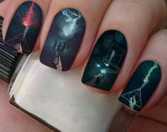 Movie Harry Potter - New Site Harry Potter Film, Harry Potter Makeup, Harry Potter Nail Art, Nail Art Grey, Nail Art Swag, Nailart Rose, Harry Potter Nails Designs, Harry Potter Wallpaper, Cute Acrylic Nails