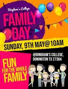 Family Day School Community Event Poster Template Templates