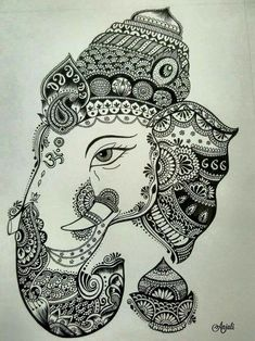 Super Nature Mandalas Drawing Zentangle 18 Ideas You are in the right place about M Ganesha Drawing, Ganesha Painting, Mandalas Painting, Mandalas Drawing, Easy Mandala Drawing, Mandala Sketch, Doodling Art, Doodle Art Drawing, Zentangle Drawings