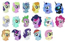 Chibified ponies.