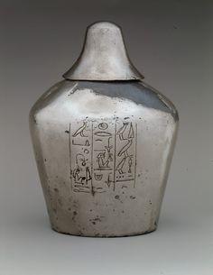 Libation Vessel of Manuwai  Period:     New Kingdom Dynasty:     Dynasty 18 Reign:     reign of Thutmose III Date:     ca. 1479–1425 B.C.