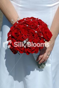 Red real touch anemone artificial poppy bridal wedding bouquet red real touch anemone artificial poppy bridal wedding bouquet wedding bouquets online red wedding and weddings mightylinksfo