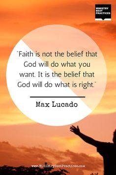 Max Lucado #quote on #faith -