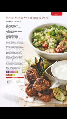 Tandoori chicken with lime raita recipe collection healthy food paprika patties with couscous salad forumfinder Gallery