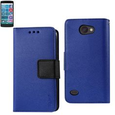 Reiko Fitting Case LG Lancet Vw820 Navy With Interior Leather-Like Material And Polymer Cover